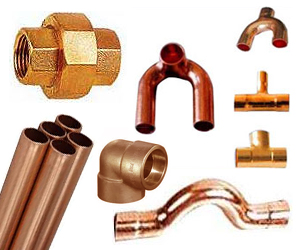 Copper fittings exporter manufacturer supplier from india for Copper pipe to plastic pipe
